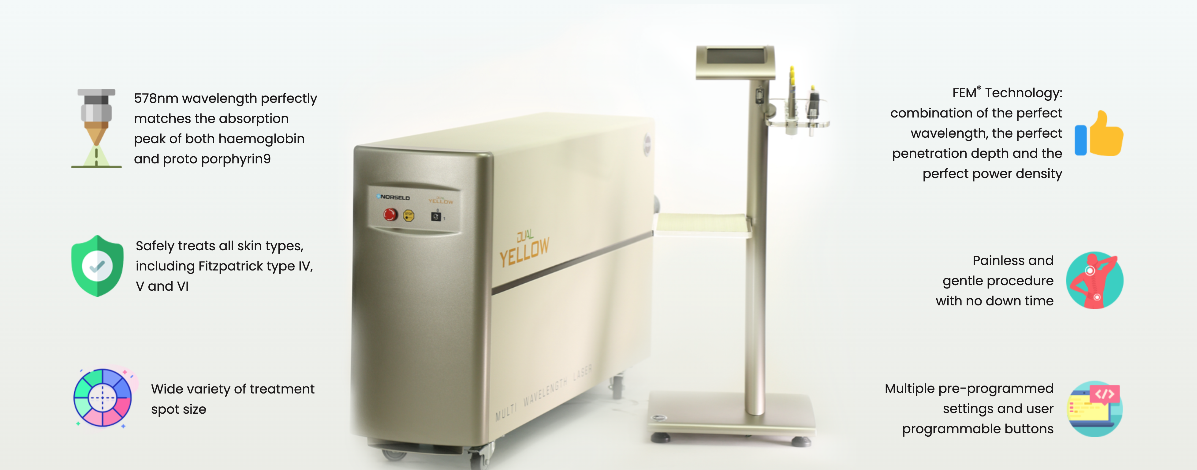 Norseld Dual Yello Laser at Dr Cindy's Medical Aesthetics