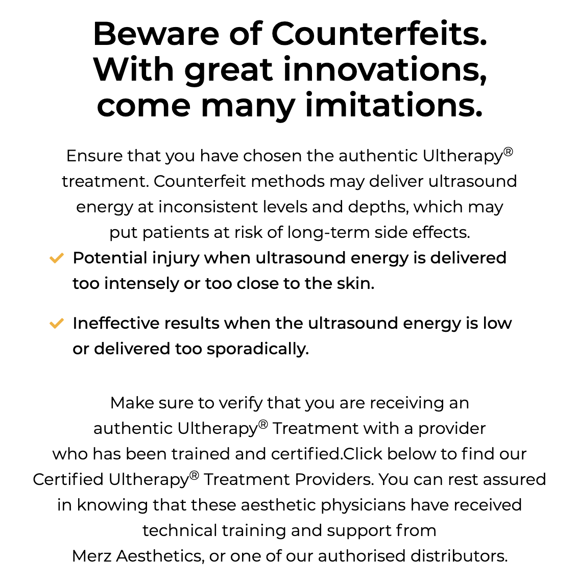 Beware of counterfeits versions of Safe and non-invasive Ultherapy® in Singapore